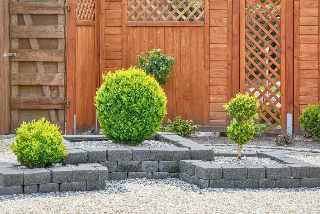 stone plant boxes for shrubs